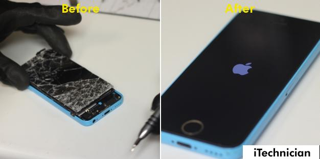 iPhone 5C Screen Replacement in Bolton