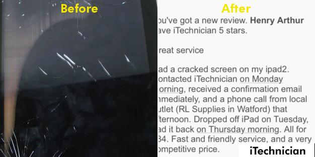 iPad 2 Screen Replacement in Watford