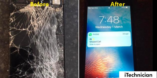 iPhone Screen Repair For a Customer in Edinburgh